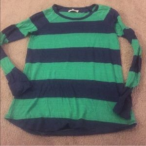 Made well, long sleeved, striped top